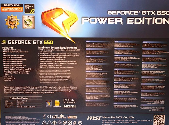MSI GeForce GTX 650