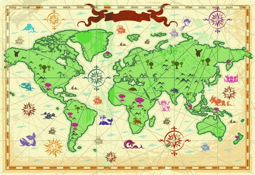 clipart of world map