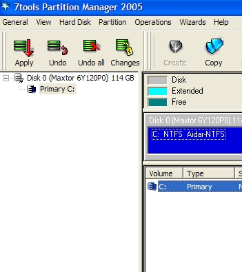 7Tools Partition Manager 2005