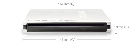 Samsung SE-T084 Slot-in External Slim DVD-Writer