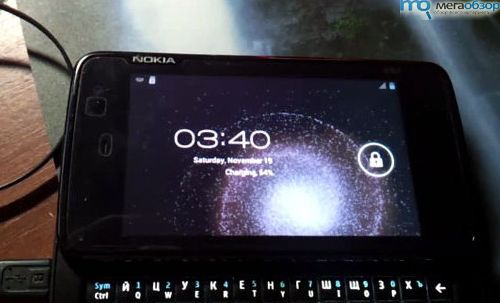 Демо Android 4.0 ICS прямо на борту Nokia N900