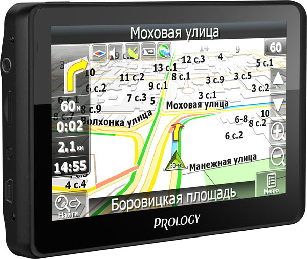 Prology iMap-524TG укомплектован SIM-картой для доступа в Интернет