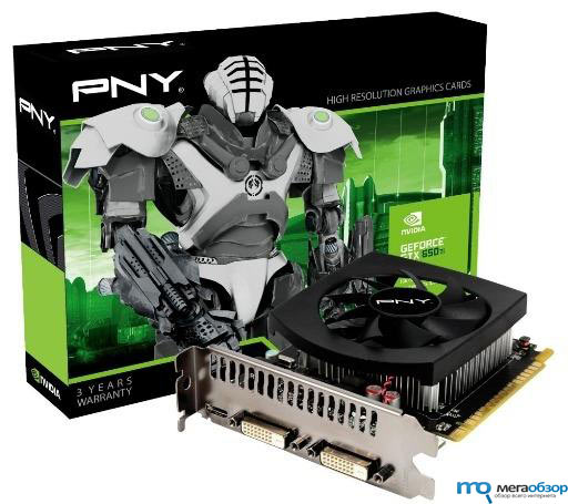 PNY GeForce GTX 650 Ti видеокарта на архитектуре Kepler