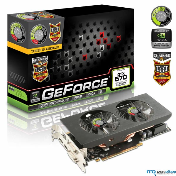 OV/TGT GeForce GTX 570 2.5GB UltraCharged с частотой графического ядра 810 МГц